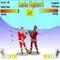 Weihnachtsmann Kämpfer -  Kampf Spiel