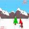 Snowboarding Weihnachtsmann